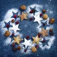 Christmas cookies wreath