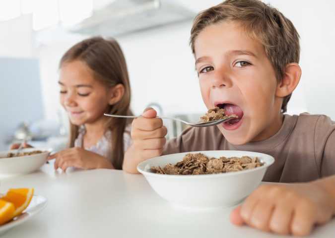 Healthy breakfast for kids and risk diabetes